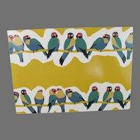 Artistic Lovebirds Postcard from England
