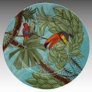 Victoria Porcelain Venezuela Eclectus Parrot Toucan Plate