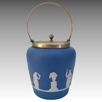 Dudson Brothers Jasperware Biscuit Jar Goddesses Cherubs Bird