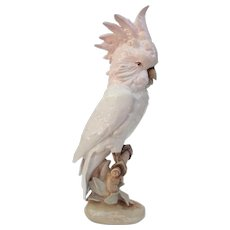 Royal Dux Czechoslovakia Large Cockatoo Figurine