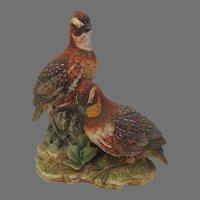 Vintage Ethan Allen Quail Duo Figurine