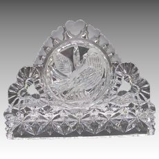 Hofbauer Byrdes Crystal Napkin Letter Holder with Bird