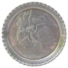 Vintage Cockatoo Aluminum Coasters
