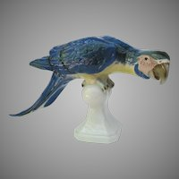 Royal Dux Macaw Parrot Figurine Large