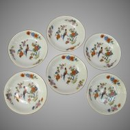 Bird of Paradise Berry Bowl Set of Six from Germany