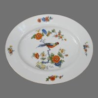 Vintage Bavaria Germany Serving Platter with Bird of Paradise Flowers