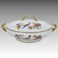 Vintage Bavaria Germany Tureen with Bird of Paradise