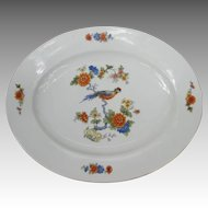 Large Vintage Bird of Paradise Serving Platter from Bavaria Germany