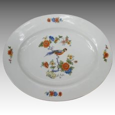 Large Vintage Bird of Paradise Serving Platter from Bavaria Germany