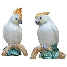 Vintage Fitz and Floyd Cockatoo Salt and Pepper Set