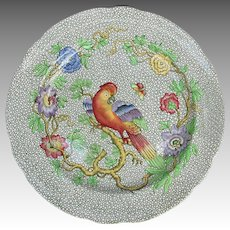 Antique Copeland Spode Cockatoo Parrot Plate