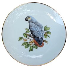 Vintage African Grey Plate from Germany