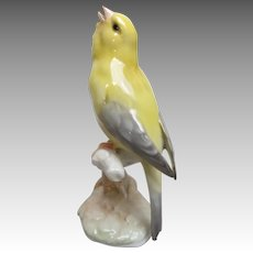 Vintage Hutschenreuther Singing Canary Figurine from Germany