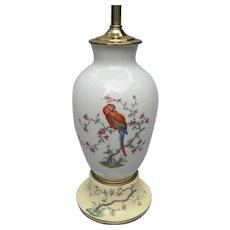 Vintage Rosenthal Germany Parrot Pheasant Lamp
