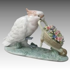 Lladro So Skillful Cockatoo Figurine AS IS