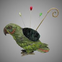 Antique Parrot Pincushion