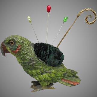 Antique Parrot Pincushion