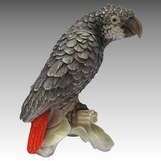 Vintage Goebel African Grey Parrot Figurine