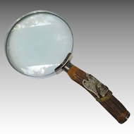 Vintage Royal Scots Greys Waterloo Eagle Magnifying Glass