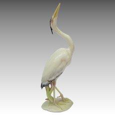 Vintage Hutschenreuther Germany Heron Figurine