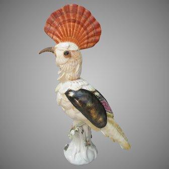 Vintage Mottehedeh Italy Hoopoe Shells Figurine