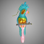Blown Glass Cockatoo Parrot Christmas Tree Ornament