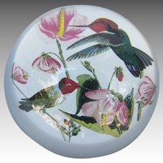 Vintage Hummingbird Glass Paperweight - ON HOLD for HEIDI