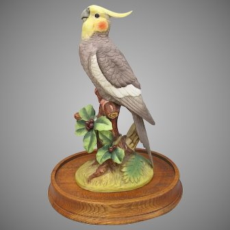 Vintage Andrea Cockatiel Figurine with Stand