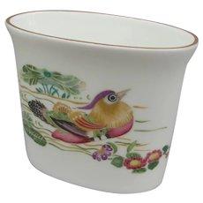 Vintage Royal Worcester Mandarin Birds Toothpick Holder