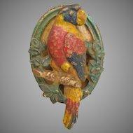 Vintage Cast Iron Parrot Doorknocker Door Knocker