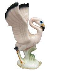 Vintage Miniature Flamingo Figurine