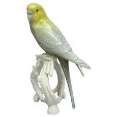 Vintage Metzler Ortloff Germany Parakeet Budgie Figurine
