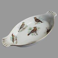 Vintage Lourioux  Porcelain Casserole Dish from France