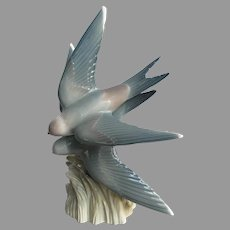 Vintage Zaphir Lladro Bluebirds Swallows from Spain