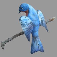 Lefton Clip On Bluebird Ornament Porcelain