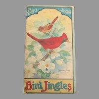 Rare Antique Bird Jingles Book