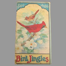 Rare Antique Bird Jingles Book