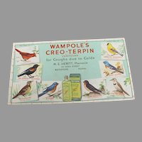 Vintage Creo-Terpin Ink Blotter with Birds