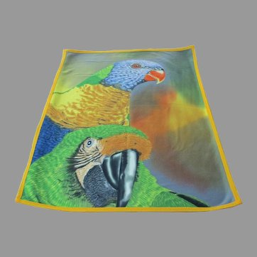 Vintage Lory Macaw Parrot Throw Blanket