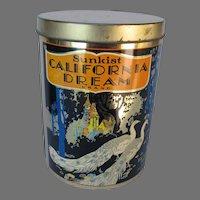 Vintage Cheinco California Dream Peacock Tin