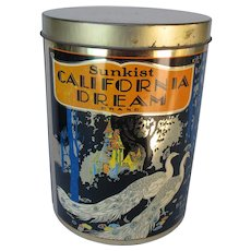 Vintage Cheinco California Dream Peacock Tin