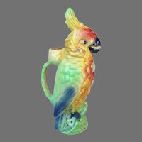 Vintage St. Clement Cockatoo Pitcher from France