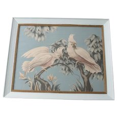 Vintage Mid Century Turner Cockatoo Parrot Print