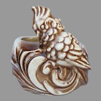 Vintage Shawness Pottery Cockatoo Parrot Planter