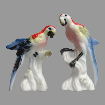 Vintage Miniature Macaw Parrot Figurines