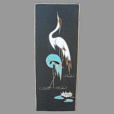 Mid Century Heron / Crane Tile