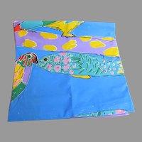 Vintage Ken Done Parrot Fish Shower Curtain