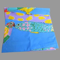 Vintage Ken Done Parrot Fish Shower Curtain