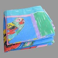 Vintage Ken Done Parrot Parrotfish Duvet with Four Pillowcases