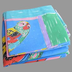 Vintage Ken Done Parrot Parrotfish Duvet with Four Pillowcases